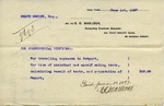 Receipt from C. O. Mailloux to Ogden Goelet