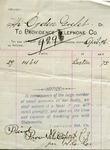 Utility bill, Providence Telephone Company
