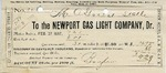 Receipt from the Newport Gas Light Company