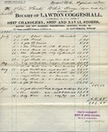 Receipt from Lawton Coggeshall to Steam Yacht White Ladye
