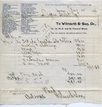 Receipt from Wilmarth & Son to Ogden Goelet