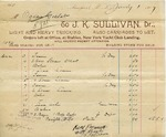 Receipt from J. K. Sullivan to Ogden Goelet
