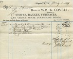 Receipt from Wm. K. Covell to Ogden Goelet