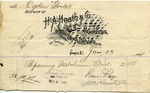 Receipt from H. A. Heath & Co. to Ogden Goelet