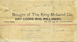 Receipt from The King-McLeod Co to Ogden Goelet