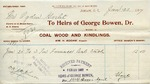 Receipt from Heirs of George Bowen to Ogden Goelet by George Bowen (Heirs of)