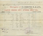 Receipt from D. Brown & Co. to Ogden Goelet