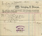 Receipt from Langley & Sharpe to Ogden Goelet