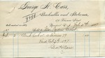 Receipt from George H. Carr to Ogden Goelet