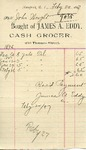 Receipt from James A. Eddy to John Wright