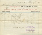 Receipt from D. Brown & Co to Ogden Goelet