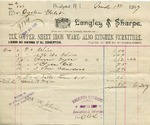 Receipt from Langley & Sharpe to Ogden Goelet
