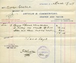 Receipt from Arthur B. Commerford to Ogden Goelet