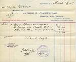 Receipt from Arthur B. Commerford to Ogden Goelet by Arthur B. Commerford