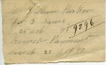 Receipt from William Parker