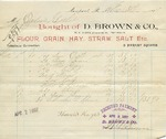 Receipt from D. Brown & Co to Ogden Goelet by D. Brown & Co.