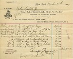 Receipt from J. M. Heard to Ogden Goelet