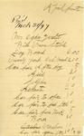 Invoice from Joseph Bennett by Joseph Bennett