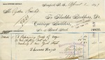 Invoice from Fludder Brothers to Ogden Goelet