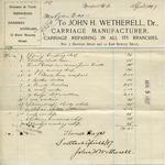 Receipt from John H. Wetherell to Ogden Goelet by John H. Wetherell