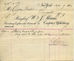 Receipt from W. & J. Sloane to Ogden Goelet