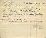 Receipt from W. & J. Sloane to Ogden Goelet by W. & J. Sloane