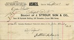 Receipt from J. Stroup, Son & Co. to Ogden Goelet