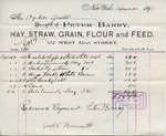 Receipt from Peter Barry to Ogden Goelet by Peter Barry