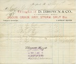 Receipt from D. Brown & Co. to Ogden Goelet by D. Brown & Co.