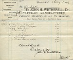 Receipt from John H. Wetherell to Ogden Goelet