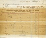Receipt from J.K. Sullivan to Ogden Goelet