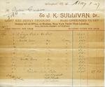 Receipt from J.K. Sullivan to Ogden Goelet
