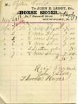 Receipt from John E. Leddy to Ogden Goelet