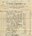 Receipt from Burke & McDermott to Ogden Goelet