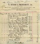 Receipt from Burke & McDermott to Ogden Goelet by Burke & McDermott