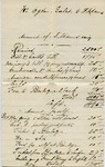 Invoice from F. Adams to Ogden Goelet by F. Adams