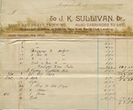 Invoice from J. K. Sullivan