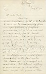 Letter from John R. Johnson to John Yale