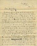 Letter from John R. Johnson to John Yale