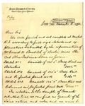 Letter from James Sinclair & Co. to Ogden Goelet (copy)