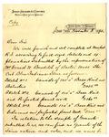 Letter from James Sinclair & Co. to Ogden Goelet (copy)