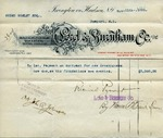 Receipt from Lord & Burnham Co. to Ogden Goelet