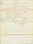 Receipt from Ernest W. Bowditch to Ogden Goelet