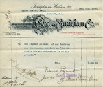 Receipt from Lord & Burnham to Ogden Goelet