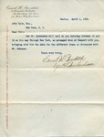 Letter from Ernest W. Bowditch to John Yale by Ernest W. Bowditch