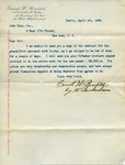 Letter from Ernest W. Bowditch to John Yale