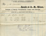 Receipt from H. M. Wilson to J. H. Bowditch