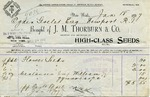 Receipt from J. M. Thorburn & Co. to Ogden Goelet