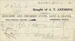 Receipt from A. T. Anthony to Ogden Goelet by A. T. Anthony