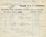 Receipt from A. T. Anthony to Ogden Goelet
